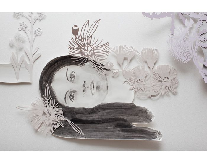 image-5-Sangeeta-Sandrasegar,-The-Bush-has-ceased-to-weep-and-when-she-smiles-she-is-a-mistress-not-to-be-denied-detail,-2011,-watercolour-and-cut-paper