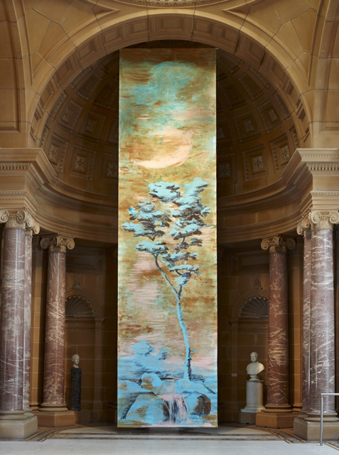 Tony Clark_Pseudotapeten landscape (tree and waterfall)_2006_Installation view Art Gallery of New South Wales, Sydney-Resized
