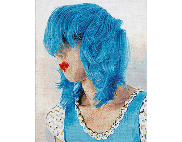 Nick Cave Blue Wig
