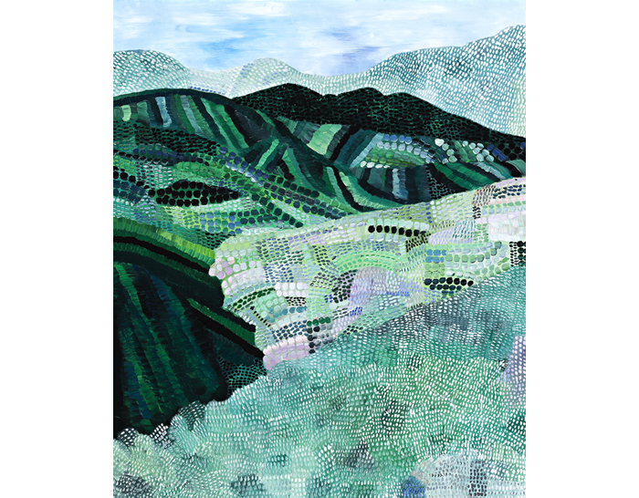 Sally Ross Landscape with valleys