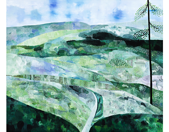 Sally Ross Landscape with road