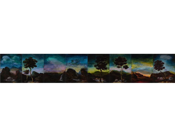 Tony-Clark_-'Sections-from-Clark's-Myriorama'_-2016_-oil-on-canvas-board_-8-panels_-30-x-180-cm_overall-HR